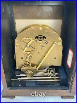 Elliott Bracket Clock Mahogany Case Westminster & Whittington Chimes Runs Strike