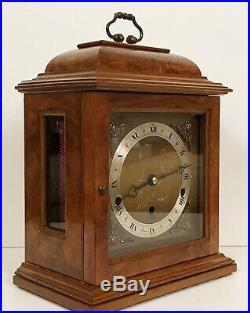 Elliott Burl Walnut Westminster, Whittington Chiming Mantle Clock Night Silent
