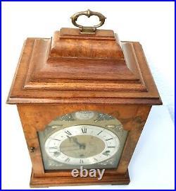 Elliott Burr Walnut Westminster Whittington Chiming Bracket Clock