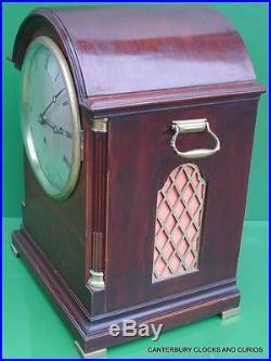 Elliott London English Triple Fusee 8 Day Westminster Chimes Bracket Clock