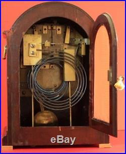 Elliott London Triple Fusee 8 Day Westminster Chimes Mahogany Bracket Clock