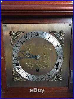 Elliott Mahogany Bracket Mantle Clock Westminster & Whittington Chimes And Box