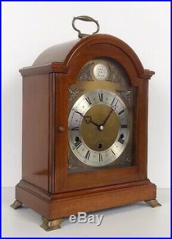 Elliott Mahogany Cased Mantle Clock Westminster, Whttington Chimes Night Silent