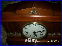 Emperor Chiming Mantel Clock Westminster Chime in Wood Cabinet with Claw Feet