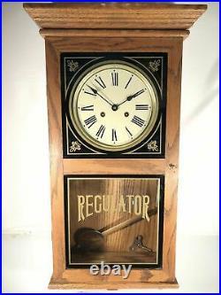Emperor Clock Company Wall Mount Regulator Chime Display