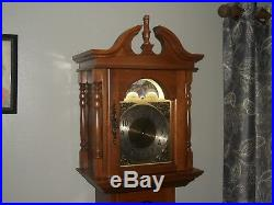 Emperor Grandfather Weight Driven Clock/Hermle Moon Phase Westminster Chime/Work