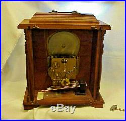 Emperor Westminster Chime Mantle Carriage Clock, Moon Phase HERMLE EXC SERVICED