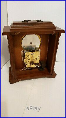 Emperor Westminster Chime Mantle Carriage WIND Clock, Moon Phase, FRANZ HERMLE