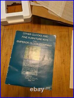 Emperor westminster chime mantle clock franze hermle 341-020 kit nos