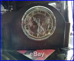 Enfield Westminster chime mantle clock with key. 1930s ENWES1