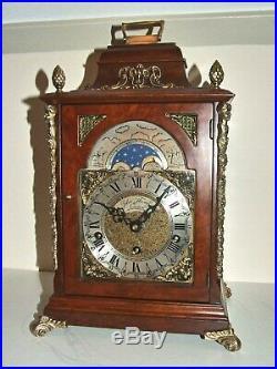English 8 day Westminster, Whittington, St. Michael, 8 Bars, Bracket Clock, Moon Phase