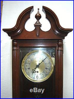 Estate HAMILTON Germany Mahogany Regulator Westminster Chime Wall Clock Working