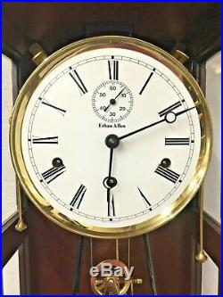 Ethan Allen Regulator Wall Clock with Westminster Chimes Weights & Spring Driven