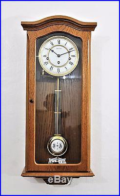 Excellent Vintage Westminster Chime Wall Clock Chime Can Be Turned On & Off