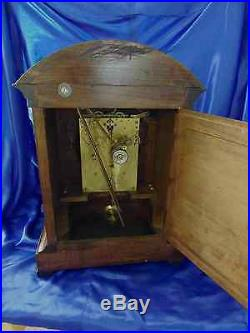 Extremely Nice and Completely Rebuilt Junghans Westminster Chime Mantle Clock
