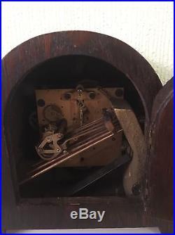 Extremely Rare Oak Cased Miniature Gustav Becker Westminster Chime Clock