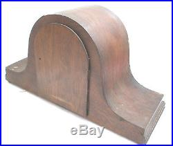 FHS German Oak Napoleon Case Westminster Chimes Mantle Clock 9H 16W 6D