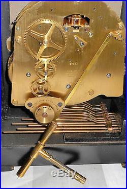Fine Chinoiserie Elliott English Bracket Clock Westminster Chime+ London Working