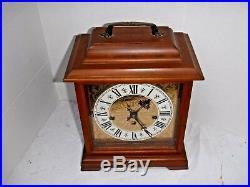FINE HAMILTON U. S. A 340-020 WESTMINSTER CHIME 8 DAY BRACKET CLOCK WORKING With KEY