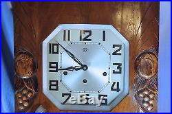 French Vedette Sonnerie Large Antique Heavy Wall Clock Westminster Chimes