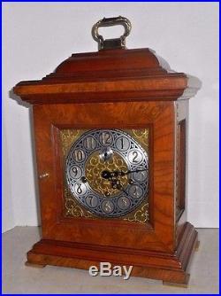 Fine Jauch German Triple + Westminster Chime Tompion-style Bracket Clock Working
