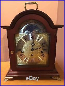 Franz HERMLE Sligh Westminster Chime Mahogany Mantle Clock WithMoon Phase /Germany