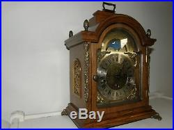 Franz HERMLE Sligh Westminster Chime Oak Mantle Clock WithMoon Phase /Germany