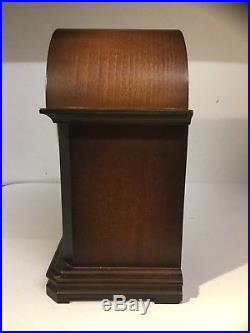 Franz Hermle 340-020A Westminster Chime Mantle Clock In Solid Wood Inlaid Case