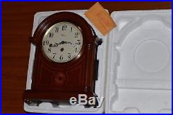 Franz Hermle Westminster Chime Inlay Wood Mantel Clock. Model 22827. New In Box