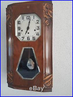 French Odo 36 Westminster chime wall clock