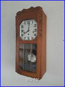 French Odo Westminster chime wall clock (0349)