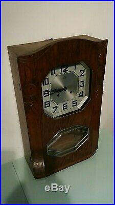 French Ornate Odo Westminster Chime Wall Clock With Key And Pendulum