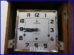 French Vedette 4X4 Quarter Hour Westminster Chime Wall Clock 8-Day, Key-wind