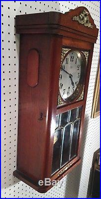 French Vedette Westminster Chime German Style Box Wall Regulator Clock