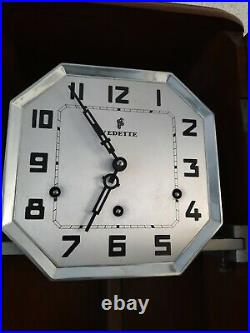 French Vedette Westminster chime wall clock NOT Odo (0372)