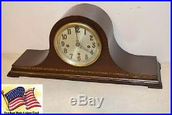 Fully Restored Herschede Model 20 Westminster Chimes Antique Clock In Mahogany