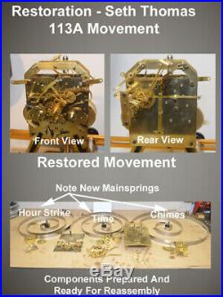 Fully Restored Seth Thomas Grand Antique Westminster Chime Clock No. 70-1928