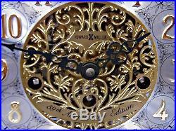 GERMAN MADE HOWARD MILLER MANTEL CLOCK 59th ANNIVERSARY ED. WESTMINSTER CHIME