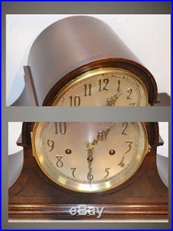 Grand Seth Thomas Chime No 74-1921 Antique Westminster Clock In Ribbon Mahogany