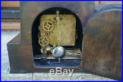 GUFA (Schatz) ART DECO triple chime mantel clock. Westminster/Whitt/St. SEE VIDEO