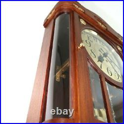 GUSTAV BECKER Wall TOP Clock Antique BAUHAUS 1921 Westminster Chime RARE Germany