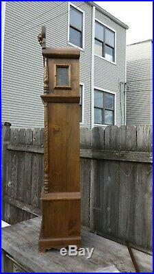 Gazo family small size tall case clock, westminster chimes, 70s vintage