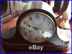 German Antique Mantle Clock Westminster Chime 100%original, Beautiful/runs Great
