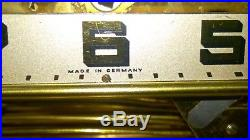 German Cuckoo Mfg. MCM Brass Mantel Clock Westminster Chimes Silent Chime