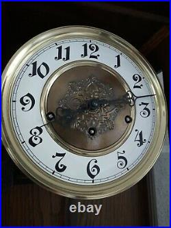 German FHS Hermle Westminster chime wall clock (0343)