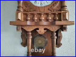 German FHS Hermle Westminster chime wall clock (0373)