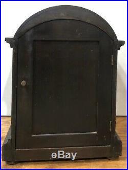 German Gustav Becker Westminster Chime Bracket Mantel Clock Black Forest