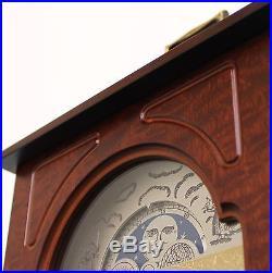 German HERMLE CLOCK Mantel MOONPHASE! Westminster 3 MELODIES Chime Vintage Shelf