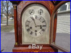 German Haas & Son Westminster Chime Large Shelf Mantle Clock Marquetry Inlay VGC