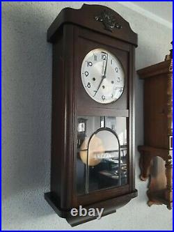 German Jauch Westminster chime wall clock (0352)